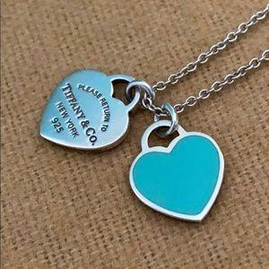 Tiffany & Co Mini Double Heart Pendant Necklace